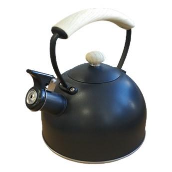 Czajnik czarny z drewnopodobną rączką 2,3L