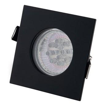 Oprawa wpuszczana oczko czarna IP44 SQUARE H0093 MaxLight