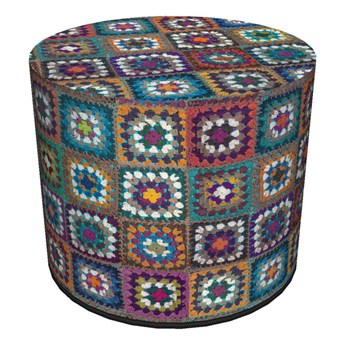 Okrągła pufa dekoracyjna - FRANIA