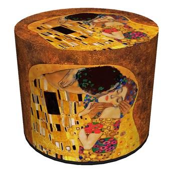 Okrągła pufa dekoracyjna - POCAŁUNEK