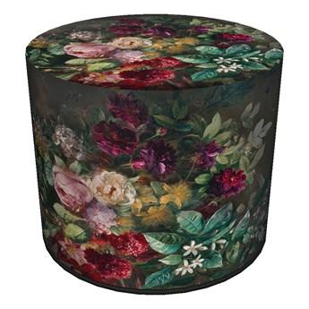 Okrągła pufa dekoracyjna - BUKIET