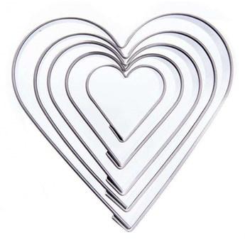 Wykrawacz, foremka do ciastek, formowania, serce, 5 el. kod: O-121149