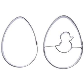 Wykrawacz cukierniczy, foremka do ciastek, pierników, jajko, zestaw, 2 sztuki kod: O-121165