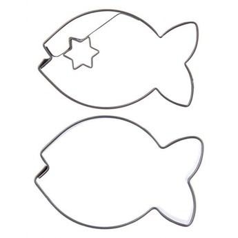 Wykrawacz cukierniczy, foremka do ciastek, pierników, ryba, 2 sztuki kod: O-121147