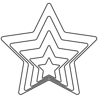 Wykrawacz, foremka do ciastek, pierników, gwiazda, 5x kod: O-124979