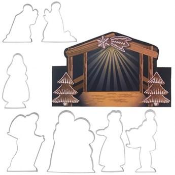 Wykrawacze świąteczne, szopka, Betlejem, do ciastek, pierników, 7 sztuk kod: O-127414