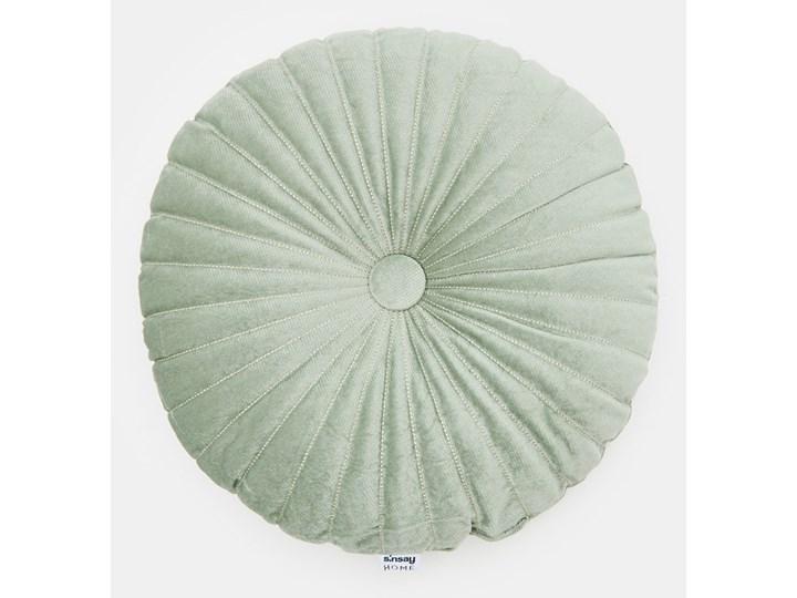 Sinsay - Poduszka dekoracyjna - Zielony Kolor Miętowy Okrągłe Kategoria Poduszki i poszewki dekoracyjne