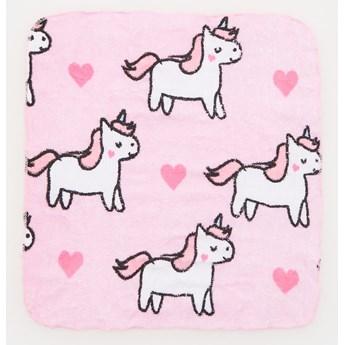 Sinsay - Magiczny ręcznik w kostce - Różowy