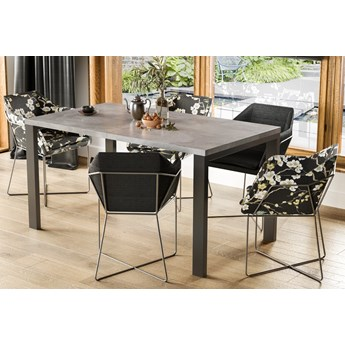 Stół do jadalni z rozkładanym blatem Garant beton