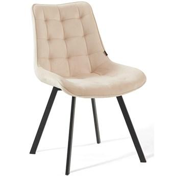 Krzesło tapicerowane beżowe DC-6030 welur #5