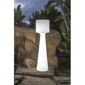 NEW GARDEN lampa ogrodowa GRACE 140 B biała - LED, wbudowana bateria
