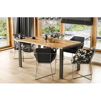 Stół do jadalni w stylu industrialnym Garant dąb wotan