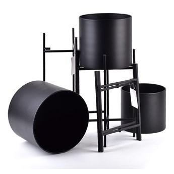 Komplet trzech metalowych osłonek w kolorze czarnym