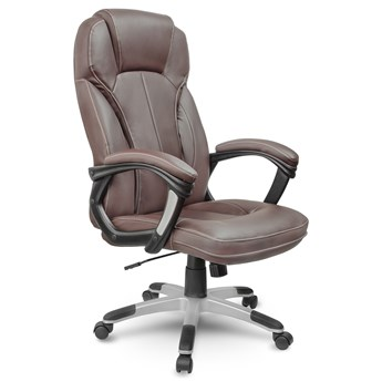 Fotel obrotowy biurowy ze skóry Eago EG-222 brązowy