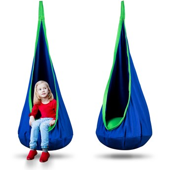 Kokon fotel wiszący Neo-Sport niebieski + poduszka