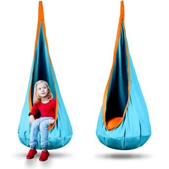 Kokon fotel wiszący Neo-Sport turkusowy + poduszka