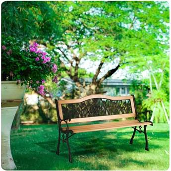Ławka parkowa z oparciem 123,5 x 74 x 48 cm Gardi Tulip Sofotel
