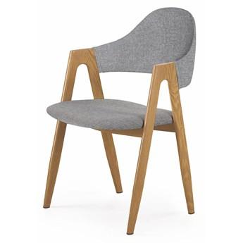 Szare krzesło tapicerowane - Ebris 2X