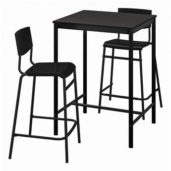 IKEA SANDSBERG / STIG Stół barowy i 2 stołki, czarny/czarny, 67x67 cm