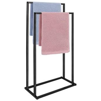 Stojak łazienkowy na ręczniki 2-ramienny czarny