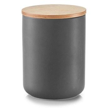 Ceramiczny pojemnik ANTHRACITE z bambusową pokrywką, 1150 ml, ZELLER