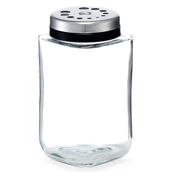 Dozownik ze szkła, pojemnik na przyprawy, szklane naczynie na sól i pieprz.