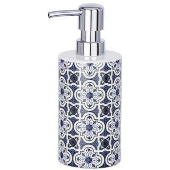 Pojemnik z pompką na mydło w płynie, ceramiczny dozownik MURCIA z elegancką grafiką - 360 ml, WENKO