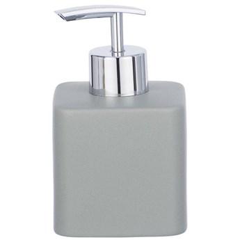 Dozownik z pompką na płynne mydło, pojemnik ceramiczny HEXA do wielokrotnego napełniania - 290 ml, WENKO