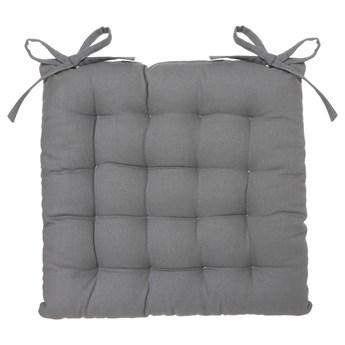 Poduszka na krzesło z wiązaniem, 38 x 38 cm, bawełna z recyklingu