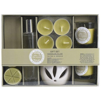 Zestaw zapachowy 10 elementów: kominek, świece, dyfuzor zapachowy