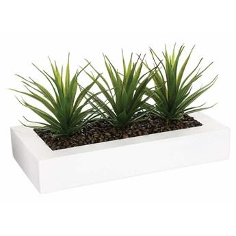 Sztuczna roślina, 3 x aloes w donicy, 31 cm