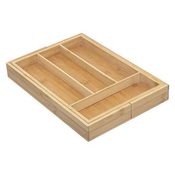 Wkład do szuflady na sztućce, bambusowy, 25-39 cm, rozsuwany