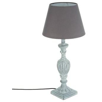 Lampa stołowa PATINE GRIS z abażurem, 56 cm