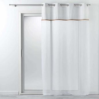 Firana gotowa KELONIA, 140 x 240 cm, z ozdobnym paskiem