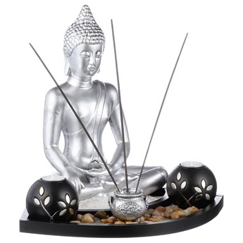 Figurka buddy z kadzidełkami i świecznikami ZEN GARDEN