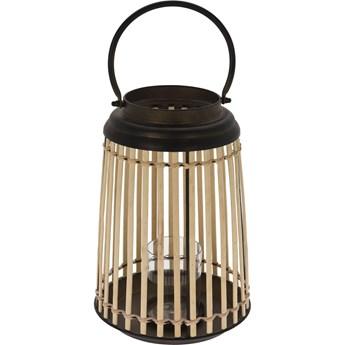 Lampion bambusowy z metalowym korpusem, Ø 24 x 32 cm