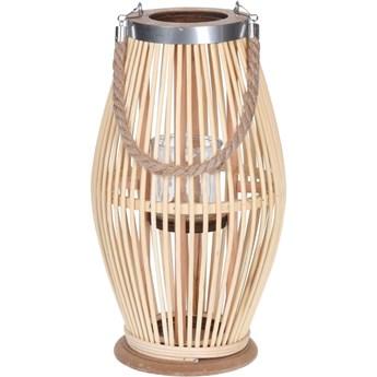 Lampion bambusowy ze sznurem, Ø 21 x 38 cm