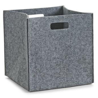 Kosz do przechowywania, kwadratowy, filcowy - pojemnik 33 l, ZELLER