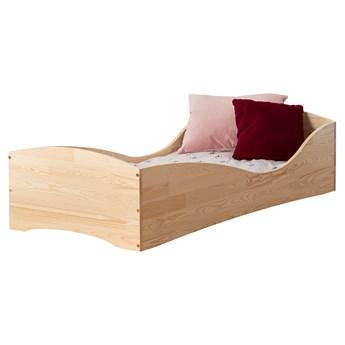 SELSEY Łóżko drewniane dla dzieci Kiata z motywem fali