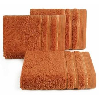 SELSEY Ręcznik bawełniany Ollechio ciemny pomarańczowy