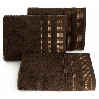 SELSEY Ręcznik bawełniany Ollechio ciemny brązowy