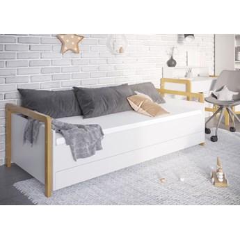 SELSEY Łóżko dla dzieci Viotte z materacem i pojemnikiem na pościel białe