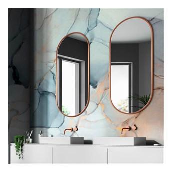 AMBIENT SLIM MIEDZIANE owalne lustro w skandynawskim stylu