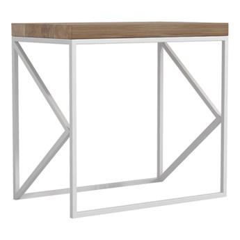 MOOW stolik z drewnianym blatem w stylu industrialnym, polski design