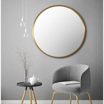 SCANDI ZŁOTE okrągłe lustro w stylu skandynawskim