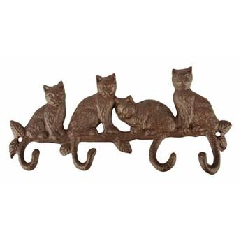 Żeliwny wieszak kotki
