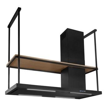 Okap wyspowy Metropolis Elite Wood Black Matt 120 cm