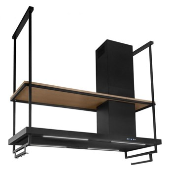 Okap wyspowy Metropolis Premium Wood Black Matt 180 cm