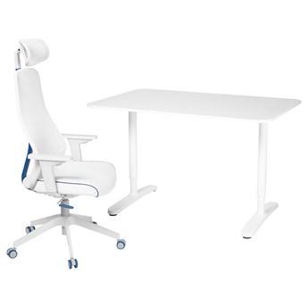 IKEA BEKANT / MATCHSPEL Biurko i krzesło, Biały, Długość: 120 cm