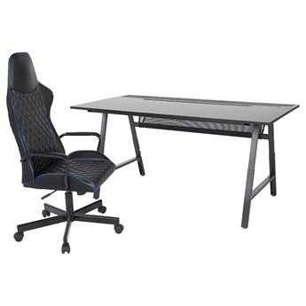 IKEA UTESPELARE Biurko gamingowe i krzesło, Czarny, Maksymalna wysokość siedziska: 50 cm